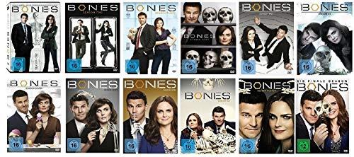 Bones Die Knochenjägerin Staffel 1-12 Die komplette Serie (1+2+3+4+5+6+7+8+9+10+11+12, 1 bis 12) [DVD Set]