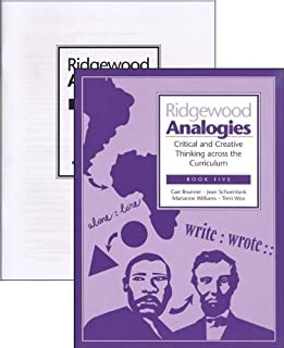 Ridgewood Analogies Book 5 (Grade 8) SET -- Book and Answer Key (Critical and Creative Thinking Across the Curriculum)