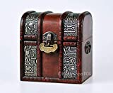 The Elven Chest (Ancient Egypt): a Lockable Wooden Deck & Counter Box for Deck Protector Storage Trading Cards TCG MTG Magic The Gathering EDH Commander Pokemon Yugioh Vanguard Game of Thrones LCG