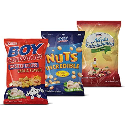 Boy Bawang Cornick, Garlic - Crispy Tasty & Gluten-Free Corn Nuts 3.54 ounces (100g), 3 Pack