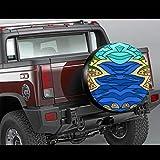LYMT Künstlerische schöne Riverside Scenery Reifenschutz Autoreifenschutz Reifenabdeckung Fit für Anhänger, Wohnmobil, SUV und viele Fahrzeuge 14-17inch