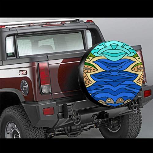 LYMT kunstzinnige mooie Riverside Scenery Tire Protectors auto band beschermer Tire Cover Fit voor Trailer, rv, SUV en veel voertuig 14-17inch
