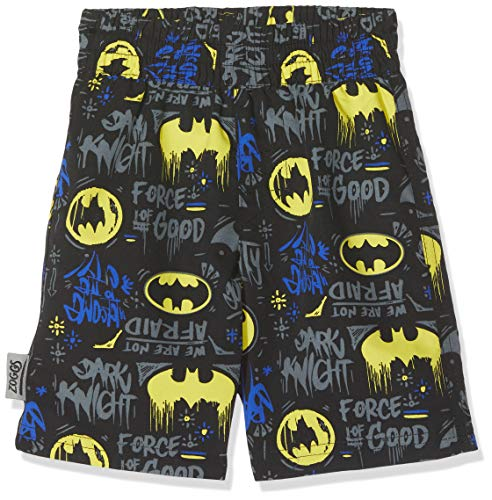Zoggs Jungen Batman Printed Water Shorts Badehose, Mehrfarbig, 3 Years/20-Inch