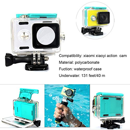 Kupton Accessories for Xiaomi Yi Action Camera Xiaoyi Waterproof Housing Case + Head Strap Mount + Chest Harness + Car Suction Cup+ Bike Handlebar Mount + Floating Hand Grip Sport Camera Starter Kit