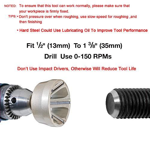 ORXPLUS TOOLS Deburring External Chamfer Tool, Deburring Drill Bit, Remove Burr Tools Fits for 1/2