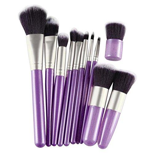 WOZOW Maquillage Cosmétiques Pinceaux 11pcs de Maquillage (Argent)