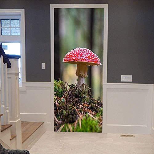 Cjzyy 3D-deursticker, hete verkoop, amplatzer, posters, wandtattoo, kunst, slaapkamer, deur, waterdicht, plakfolie, doe-het-zelf decoratie 90 x 200 cm.
