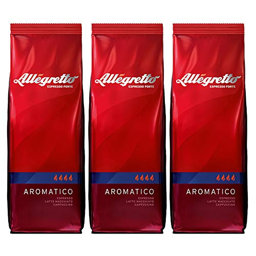 Allegretto Aromatico, 250g, ganze Bohne, 3er Pack