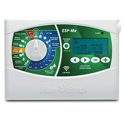 R.Bird - Programador eléctrico de riego ESP 19 Estaciones, Ampliable con módulos a 22. Funciona con electroválvulas de riego eléctricas 24V de Cualquier Marca.