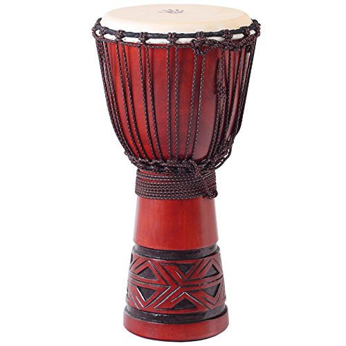 X8 Drums Celtic Labyrinth Djembe Drum, Medium