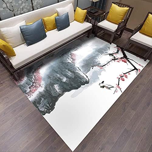Alfombra de sala de estar Alfombras antideslizantes Área de alfombra suave alfombra interior Alfombra de interior Hogar sala de estar Alfombra estilo chino estilo mezcla sala de estar mesa de café dor
