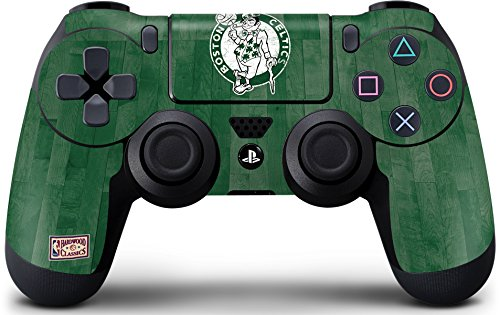 Skinit Decal Gaming Skin for PS4 Controller - Officially Licensed NBA Boston Celtics Hardwood Classics Design