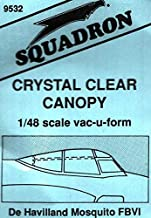 Squadron 1:48 De Havilland Mosquito FBVI Crystal Clear Canopy Vacuform #9532