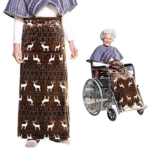 KIKIGOAL verdickende vergrößernde warme Decke Bein Decke Knie Decke für Alter (mit Tasche) | Polar Fleece Material 120×100 cm