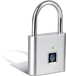 Cnloyua Smart Schloss Fingerprint , zamek szyfrowy , kłódka na odciski palców , kłódka na kłódkę , ładowanie przez USB , m...