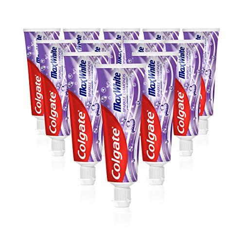 Colgate Zahnpasta Max White Sparkle Diamonds, 12 x 75 ml - Zahncreme für weißere Zähne
