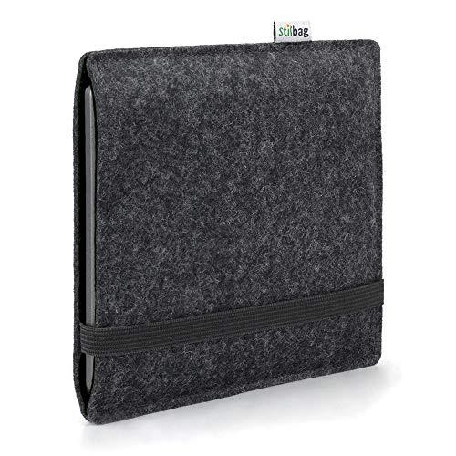 Stilbag e-Reader Hülle Finn für Tolino Epos 2 | Wollfilz anthrazit/schwarz | Schutzhülle Made in Germany