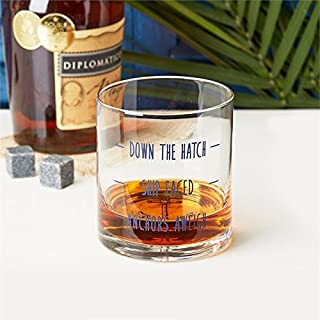 Anchors Aweigh Double Old Fashioned Glass