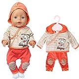 ebuddy Puppen-Outfits Kleidung beinhaltet Bluse und Hose für 43cm / 17 Zoll Neugeborene Babypuppen (Keine Puppe)
