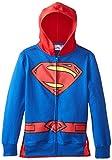 DC Comics Big Boys' Superman Hoodie, Blue, 8