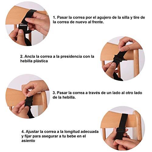 Stylelove Cintura di Sicurezza Regolabile Universale a 5 Punti con Spallacci per Passeggino, seggiolone, Carrozzina Nero
