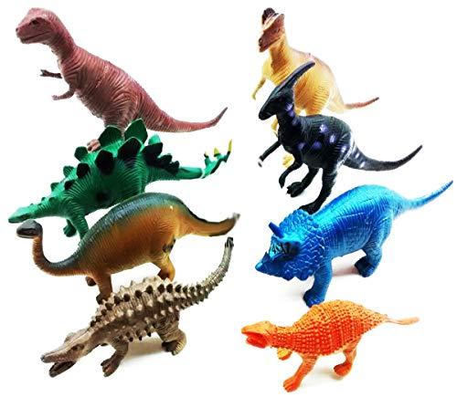 Kit 8 Dinossauros De Borracha Miniatura Pode Usar Banho Top