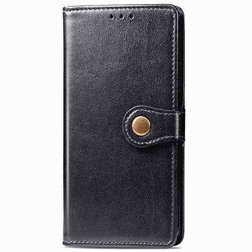 Funda tipo cartera de piel para Motorola Moto Edge 20, color negro, antigolpes, resistente a los arañazos, resistente a los arañazos, carcasa con imán y compartimento para tarjetas y función atril