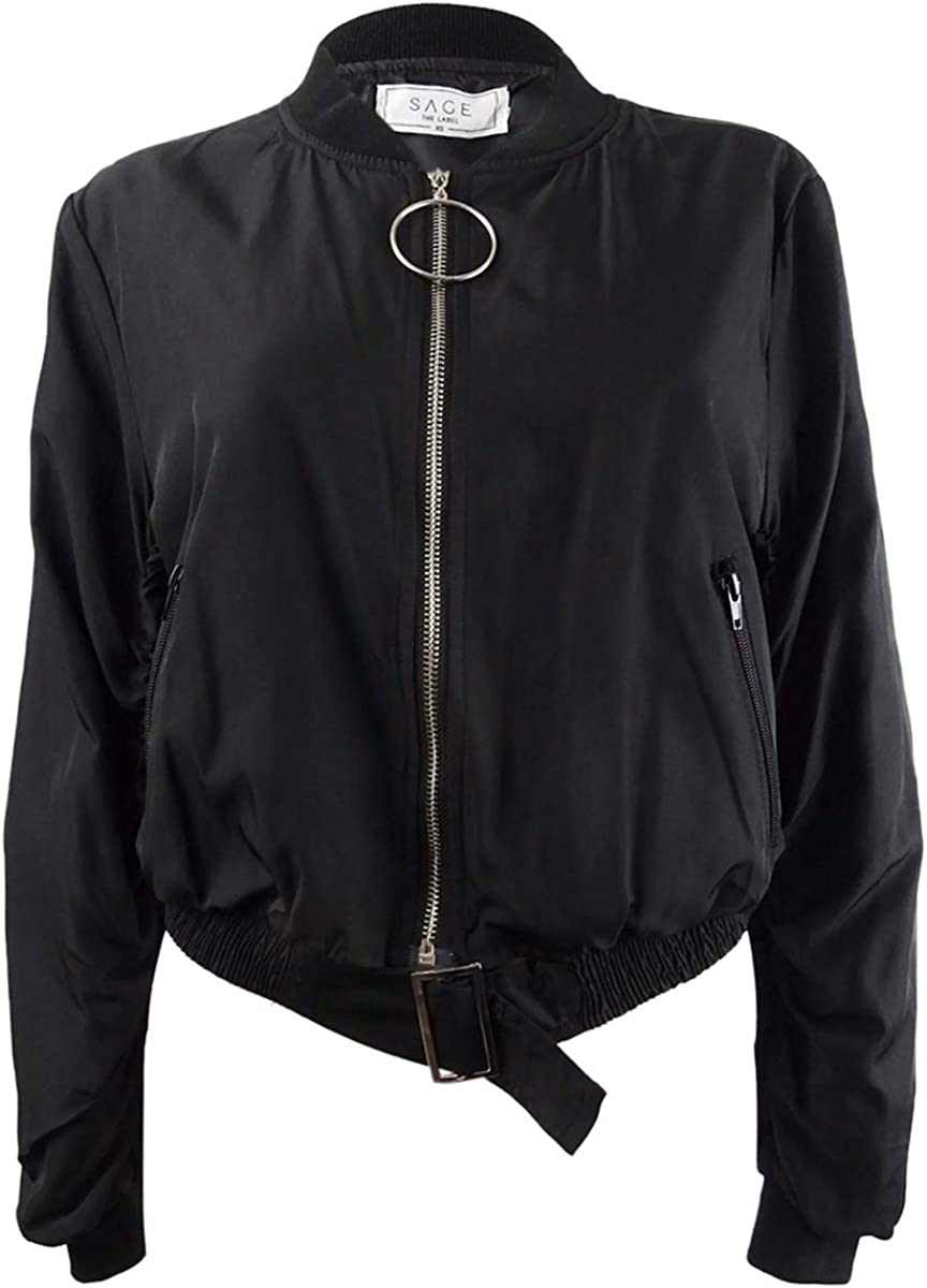 Sage The Label Womens Cropped Bomber Jacket