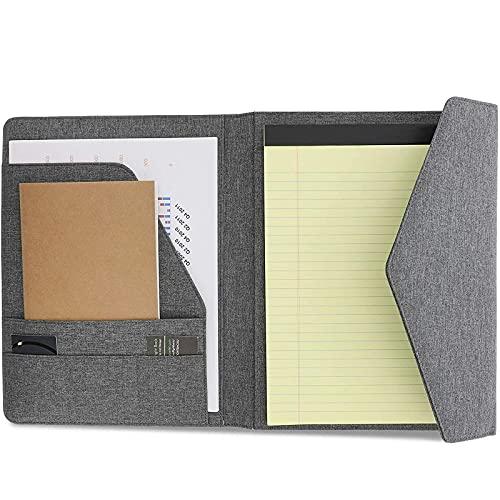 Grey Padfolio, Legal Pad Portfolio, Business Organizer Folio Notebook...
