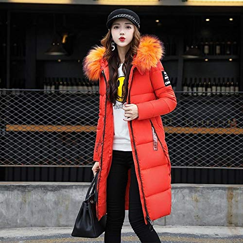 Winter Jacket Women Coat Female 2019 Long Slim Solid Color Female Jackets Zip Collar Women Jacket L Orange