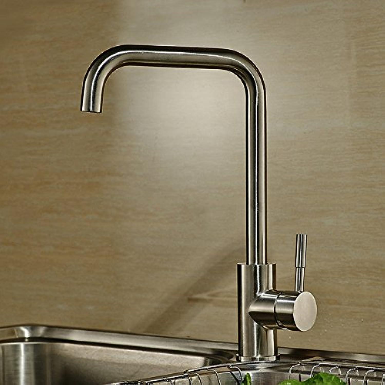 Küche mit herausziehbarer Dual-Spülbrause,Kaltes und Heies Wasser Vorhanden Messing verchromt 304 robinet d'évier en acier inoxydable robinet d'eau chaude et froide de cuisine robinet tournant 360