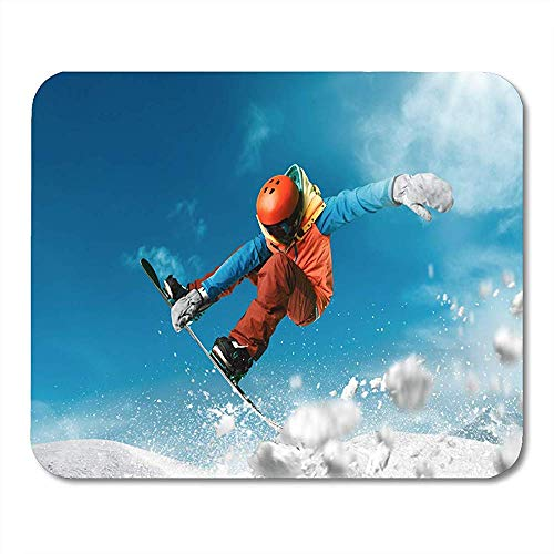 Mouse Pads Extreme Snowboarden Sport Mountain Sneeuw Snowboard Freestyle Winter Mouse Pad Voor Notebooks Computers Matten benodigdheden