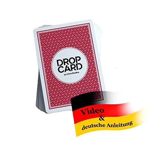 Drop Card by Chris Rawlins inkl. deutschsprachiger Anleitung | Mentalmagie Kartentrick | Ein Zuschauer findet auf unmöglich faire Weise die Karte eines anderen Mitspielers | Zaubertricks lernen