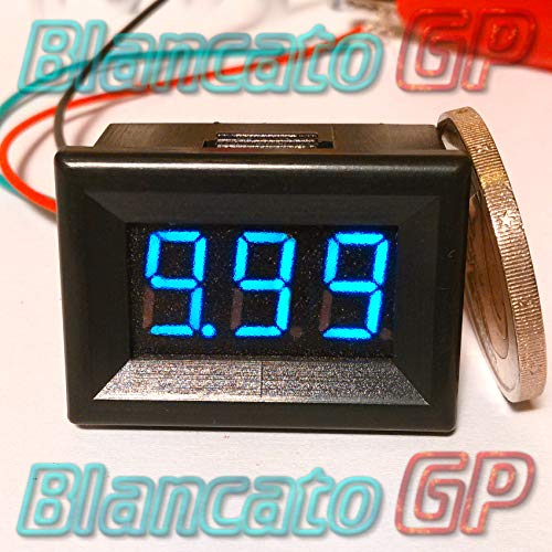 Mini voltímetro Digital de 0–10V LED Azul De panel Tester Laboratorio precisión