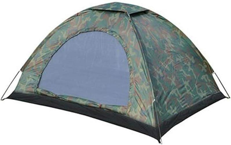LYS Tente de Camping, Tente de Camouflage Classique recomhommedée Double extérieure à Un Seul étage Militaire légère et résistante à l'eau