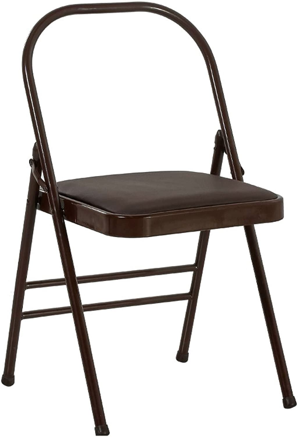 CQOZ Yoga Chair Stool Auxiliary Chair Household Folding Chair Thickening Folding Chair Folding Chair (color   Brown)