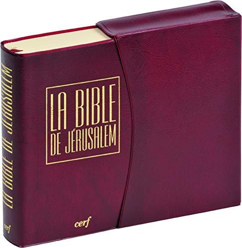 La Bible de Jérusalem [Format: Poche vinyle bordeaux ]