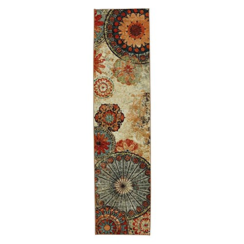 Mohawk Home Caravan Medallion Ornamental Runner Area Rug, 2'x8', Multi