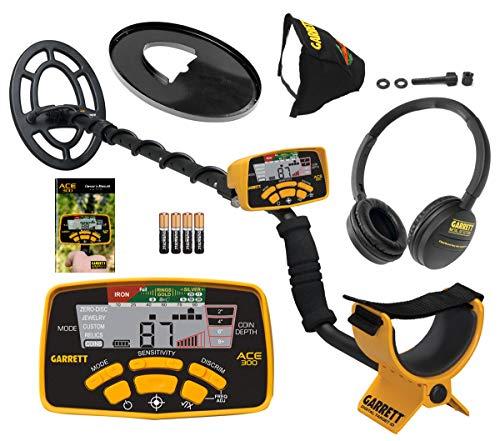 Garrett ACE 300 Metal Detector with Waterproof Coil and Headphone Plus Accessories
