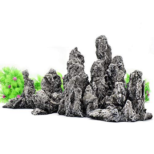 SSRSHDZW Aquarium Landscaping Vis Tank Interieur Decoratie Simulatie Hars Qinglong Stone Extra Grote Rockery Stone Combinatie Rockery Groep