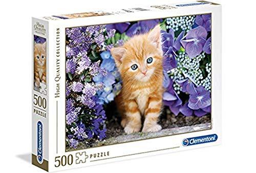 Clementoni- Gattino Rosso High Quality Collection Puzzle, Multicolore, 500 pezzi, 30415
