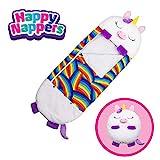 "Happy Nappers Pillow & Sleepy Sack- Comfy, Cozy, Compact, Super Soft, Warm, All Season, Sleeping Bag with Pillow- Medium 54"" x 20"", White Unicorn"