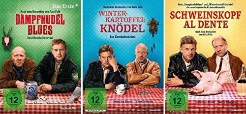 Eberhofer - 3 DVD Set (Dampfnudelblues + Winterkartoffelknödel + Schweinskopf al dente) - Deutsche Originalware [3 DVDs]