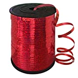 500 Yards Red Crimped Curling Ribbon Shiny Metallic Balloon String Roll Gift Wrapping Ribbon for Party Festival Art Craft Decor Florist Flowers Decoration