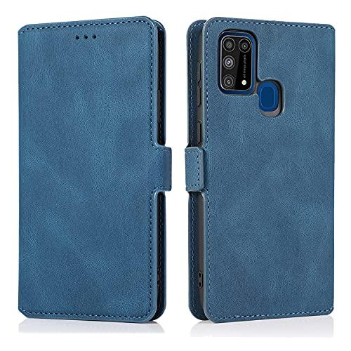 Cubierta de la caja del tirón del teléfono Para Samsung Galaxy M31 caja de teléfono móvil, estilo retro de cuero suave titular de la caja del teléfono de la caja del teléfono móvil, adecuado para Sams