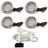 4er Set LED Einbauleuchte Moebelleuchte Einbaustrahler...