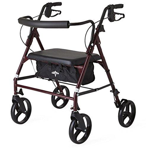Guardian Bariatric Rolling Walker with wheels, steel