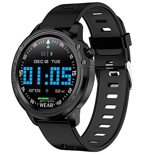 Smart Watch Men IP68 Reloj Inteligente de Moda a Prueba de Agua con ECG PPG Presión Arterial Frecuencia cardíaca Deporte Fitness Pulsera (Color: A)