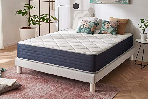 naturalex Aura | Luxuriously Quilted Memory Foam Mattress | EU Size 105x200cm | Viscoelastic Memory High Density | Unique Ergonomic Design Relieves Sore Tired Joints | Certified Pure