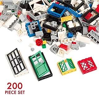 Barcaloo 200 Piece Window, Door, and Roof Set - Building Brick Compatible Play Kit